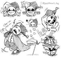 DELTARUNE - Jevil - Doodles by ADTAG