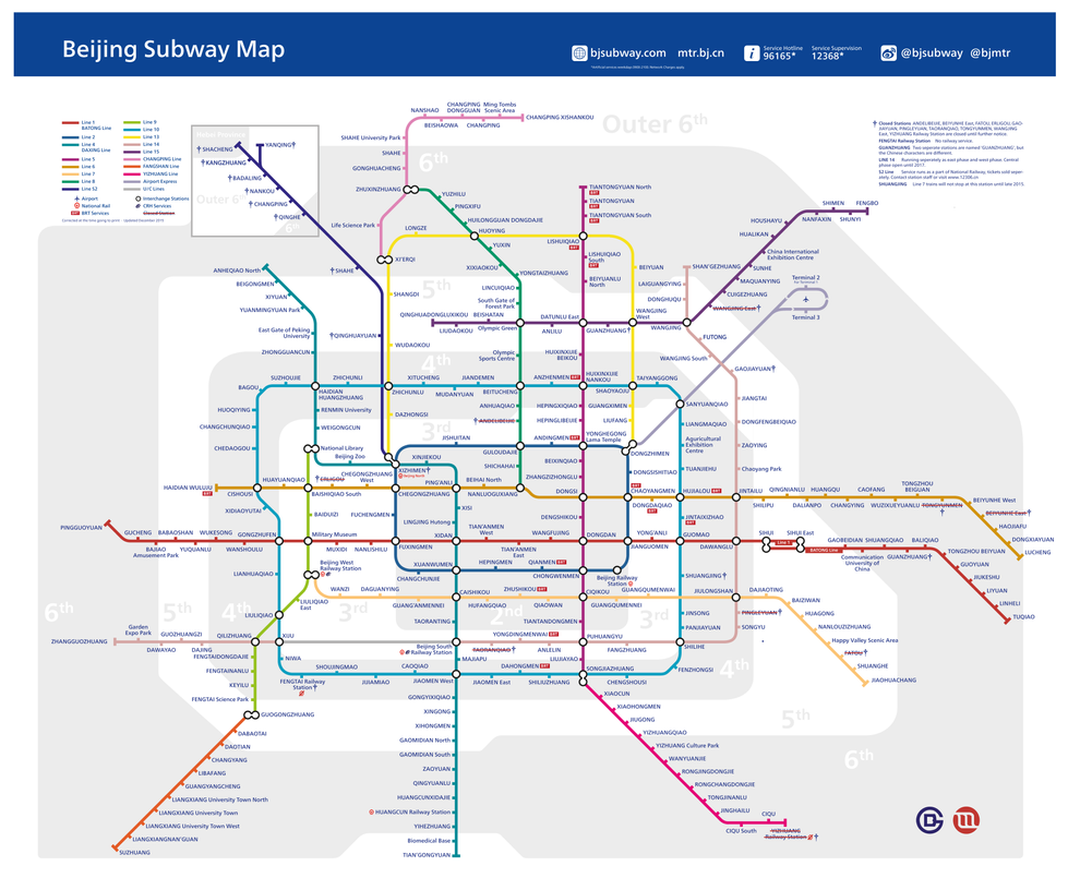 2016 Beijing Subway Map Londonish Style by itvcanterlot on
