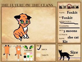 The Future Of The Clans: Foxkit!! by GiggleKittyx3