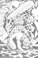 Doctor Doom vs Silver Surfer