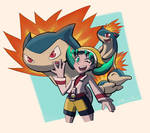 Pokemon Masters - Kris and Cyndaquil