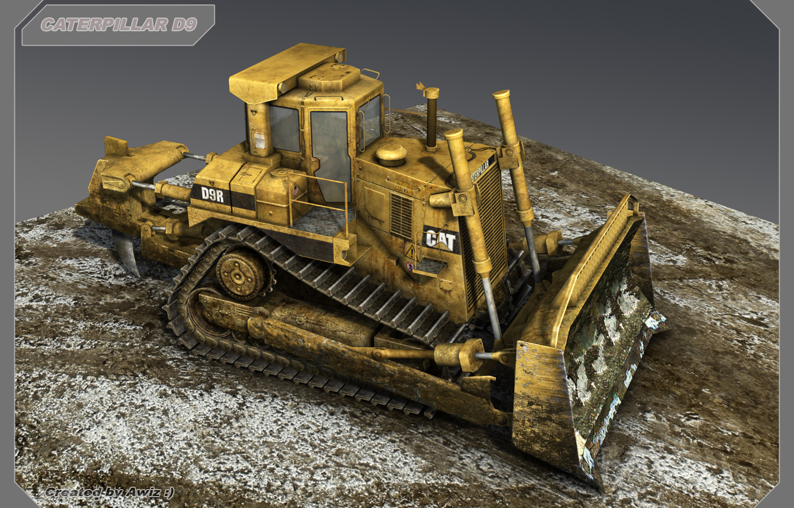 bulldozer caterpillar d9 by awiz on deviantart