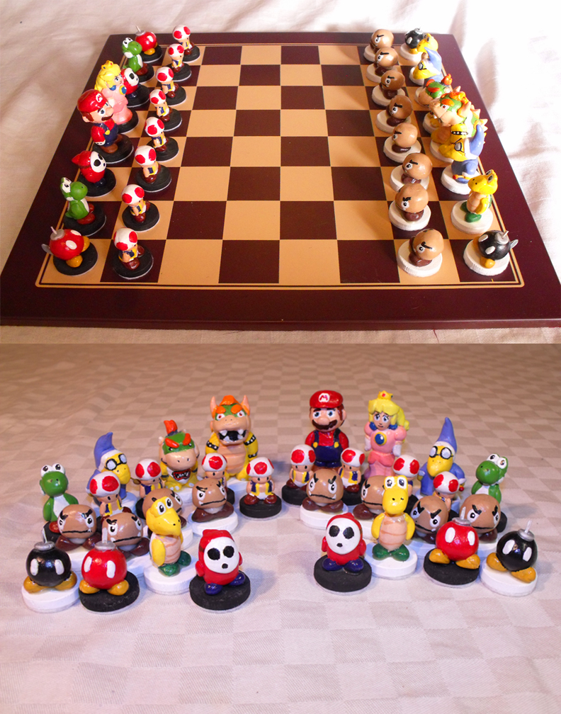 Nintendo Chess Set By Suntro On Deviantart