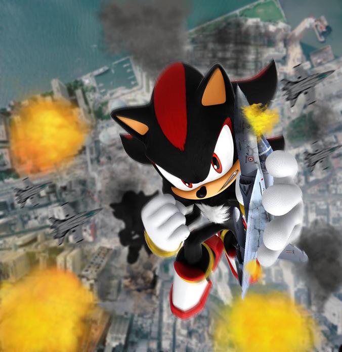 Giant Shadow Hedgehog Rampage by Shady-Ace
