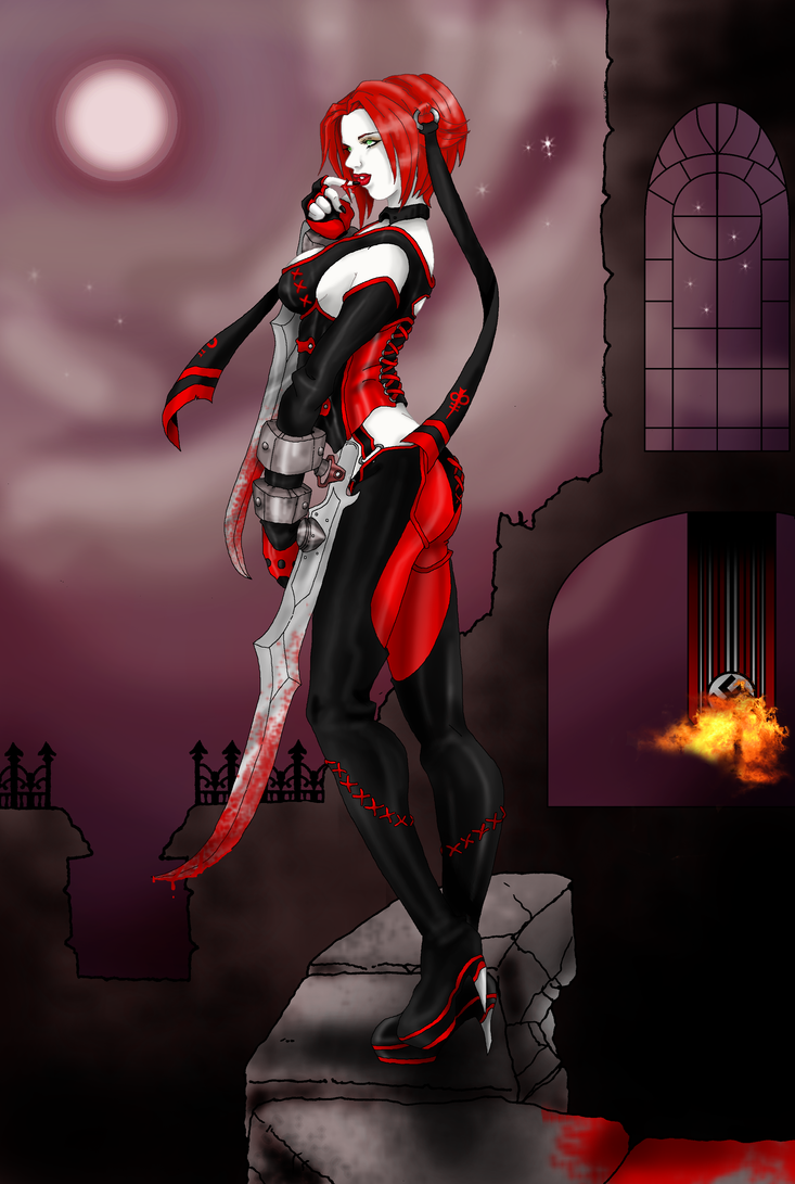 Rayne with Background full by Zerbear333