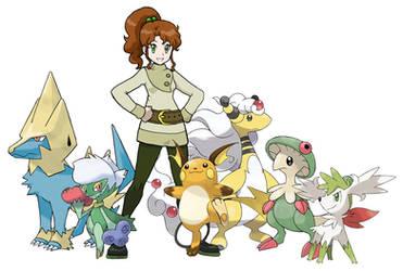 Makoto Pokemon Team by Zerbear333
