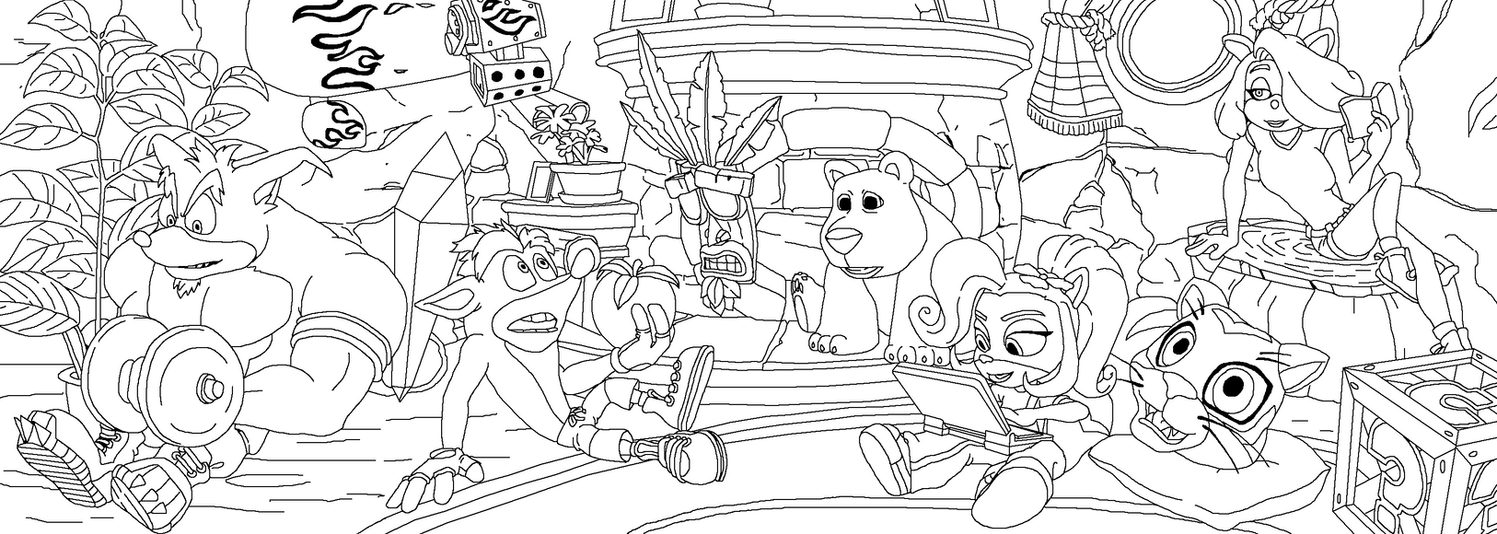 Crash bandicoot coloring page by zerbear333 on deviantart for Crash bandicoot coloring pages