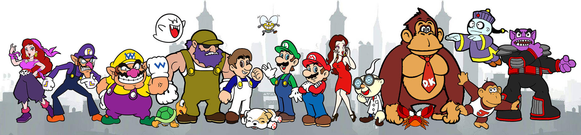 Alternate Reality Mario Bros Cast