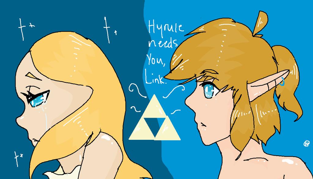 Hyrule needs you, Link by Mashi0