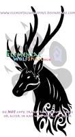 Tribal elk head