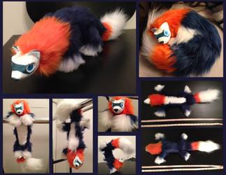 Posable Ferret Plush by ElementalFurs