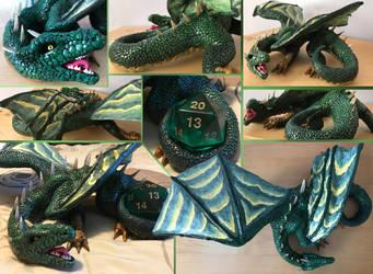 Artistic liberty dragon sculpture by ElementalFurs