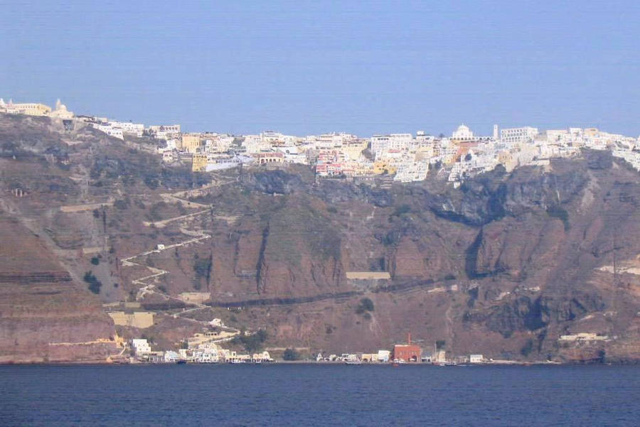 Greece, Santorini, Thera port by elodie50a