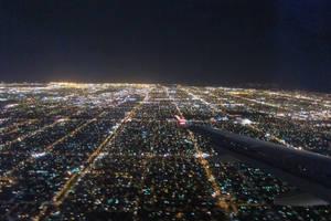 Los Angeles - Plane view night