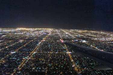 Los Angeles - Plane view night