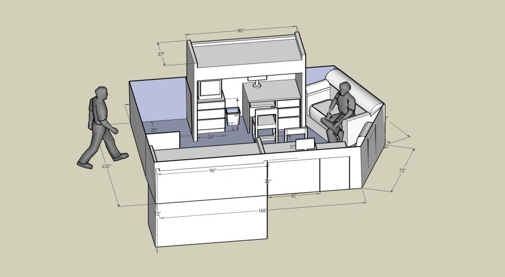 Sketch up dorm room layout by thecritique on deviantart Room layout