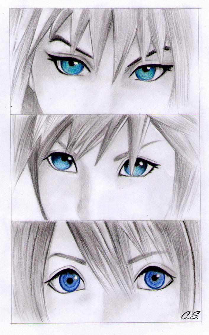 Riku Sora and Kairi by Cate397