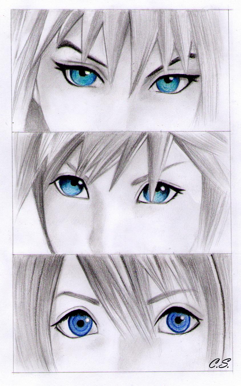 Riku Sora and Kairi by Cate397