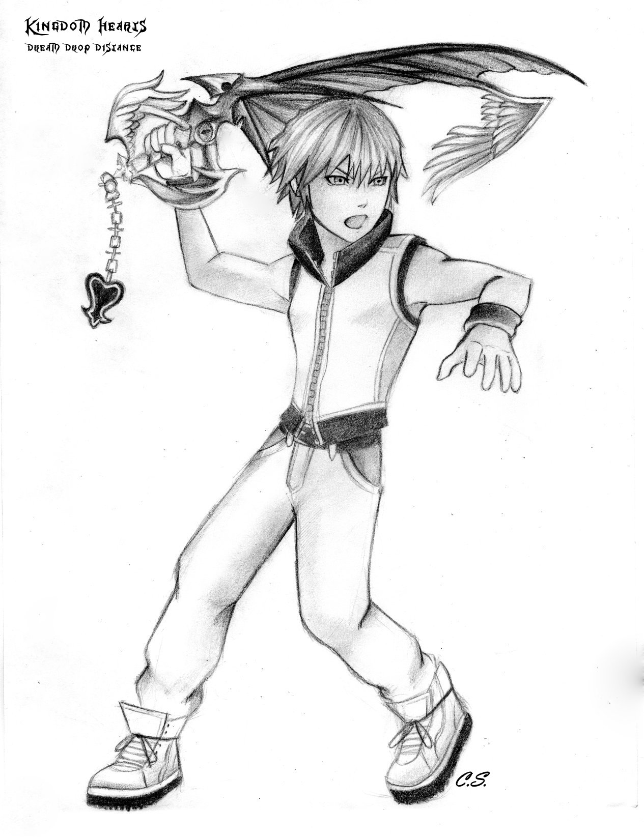 Coloring pages kingdom hearts - Coloring Pages Kingdom Hearts Kingdom Hearts Riku Drawing Kingdom Hearts 3d Riku By