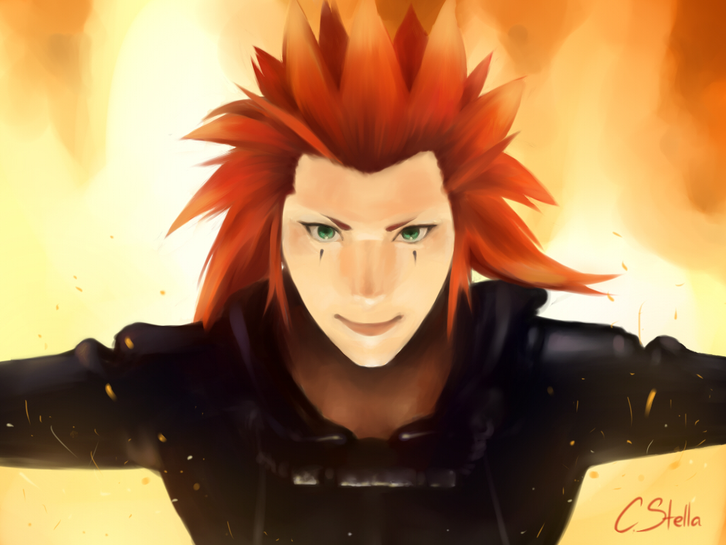 Axel is on fire by Cate397 on DeviantArt