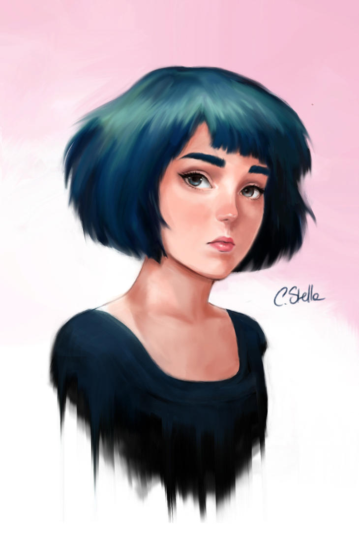 Blue hair by Cate397