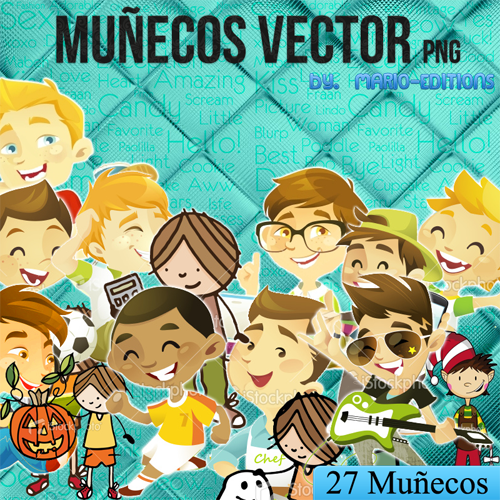 Chicos Vector by Tutoriales-Paris