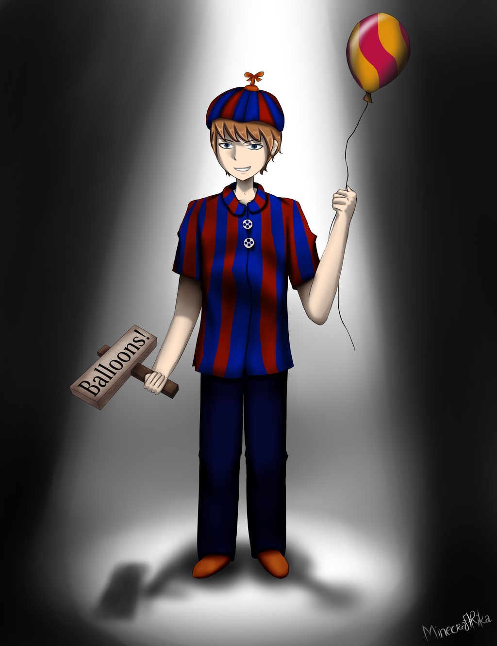 balloon boy bb from five nights at freddys 2 by