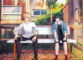 Hanging Out (Bakugou and Midoriya)