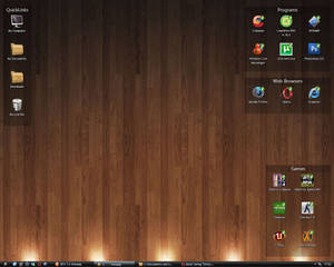 Windows xP wooden desktop