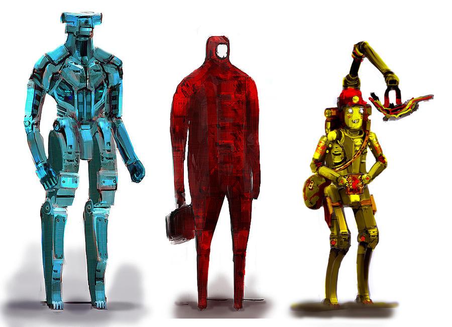 robot sketch by gamka