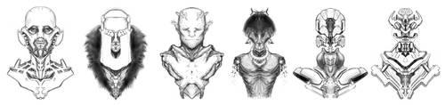 Bust sketch by gamka