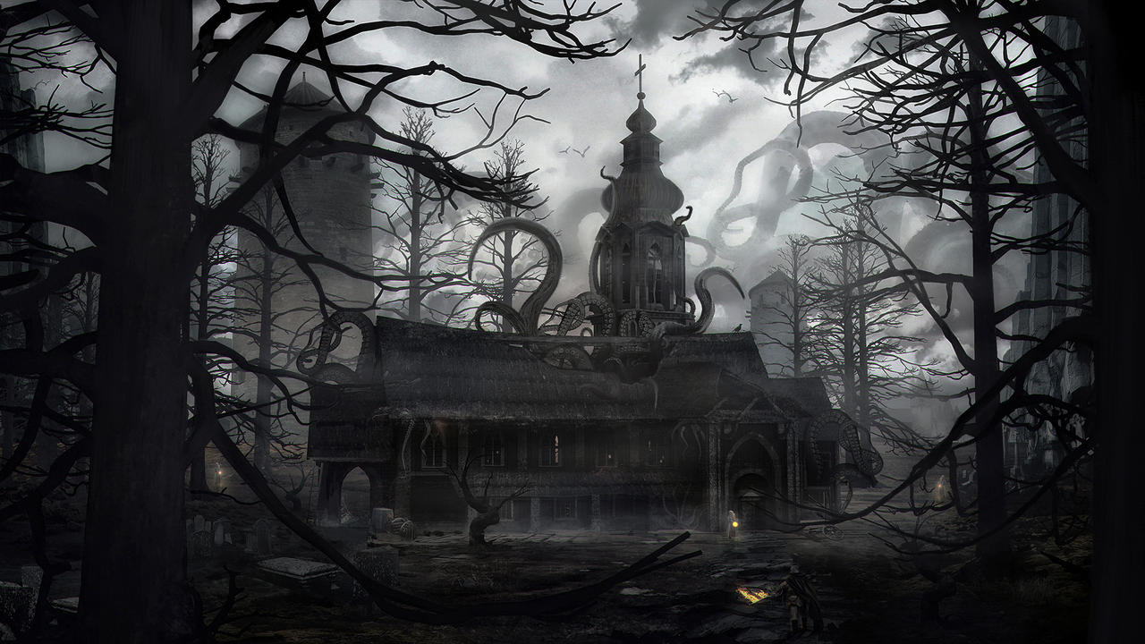 Dark Church by gamka