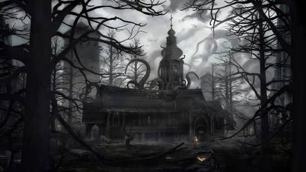 Dark Church by gamka