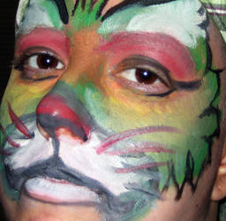 Painted Face Cat