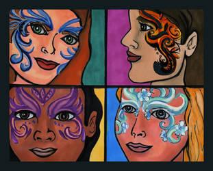 Faerie Queen Quartet by purplegoldfish