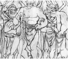 Manhattan Clan sketch WIP