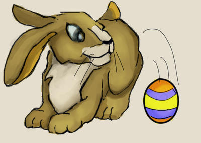 Easter Bunny by purplegoldfish