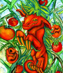 Home Grown Tomato Dragons by purplegoldfish