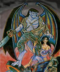 Goliath VS. Army of Darkness by purplegoldfish