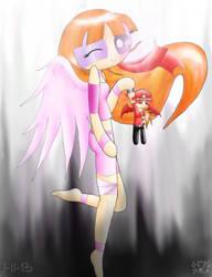 Angel Blossom and Mini Demon Brick by polarbear1234