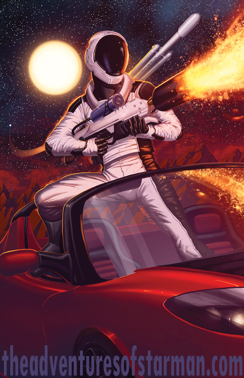 Starman Arrives on Mars by DashMartin
