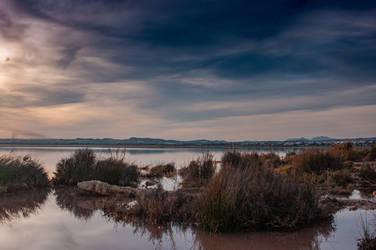 Calm lake in Spain