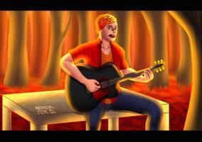 Ember singing by Industrialfox