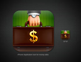 iPhone App icon for money talk by st-valentin