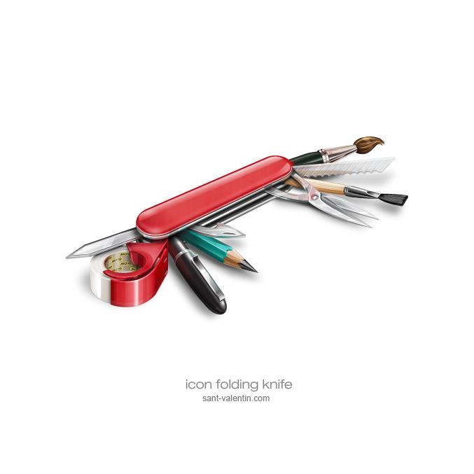 icon folding knife by st-valentin
