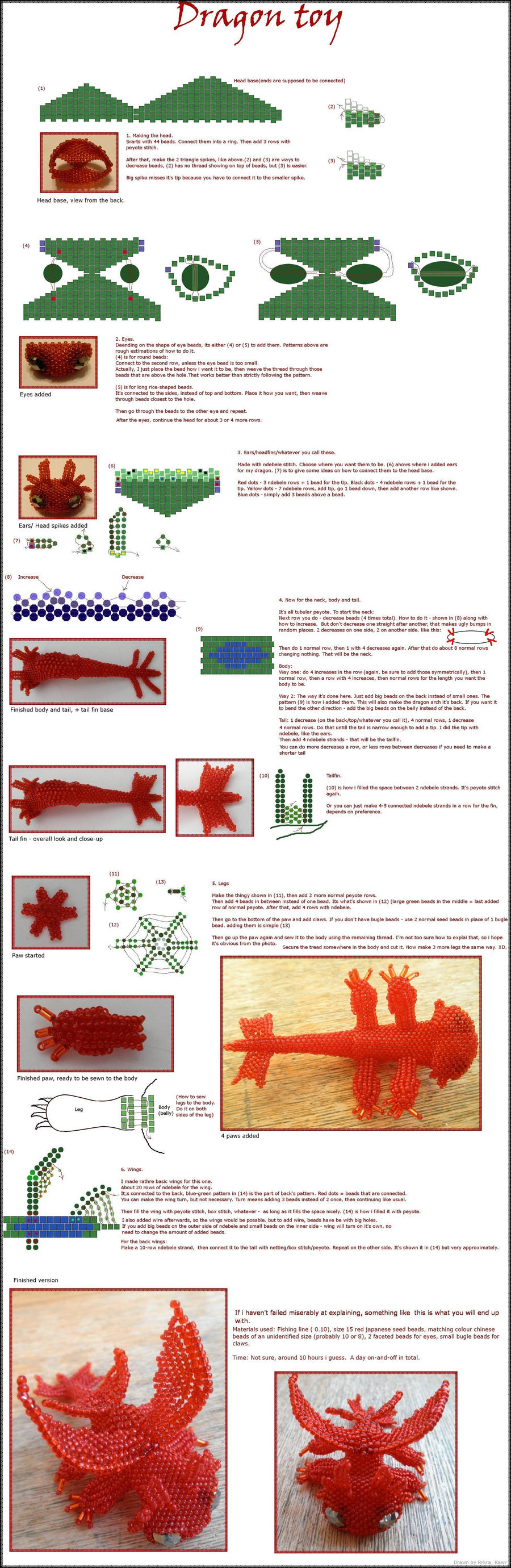 Dragon toy tutorial by Rrkra