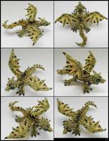 Green dragon brooch