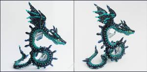 Blue dragonsnake by Rrkra
