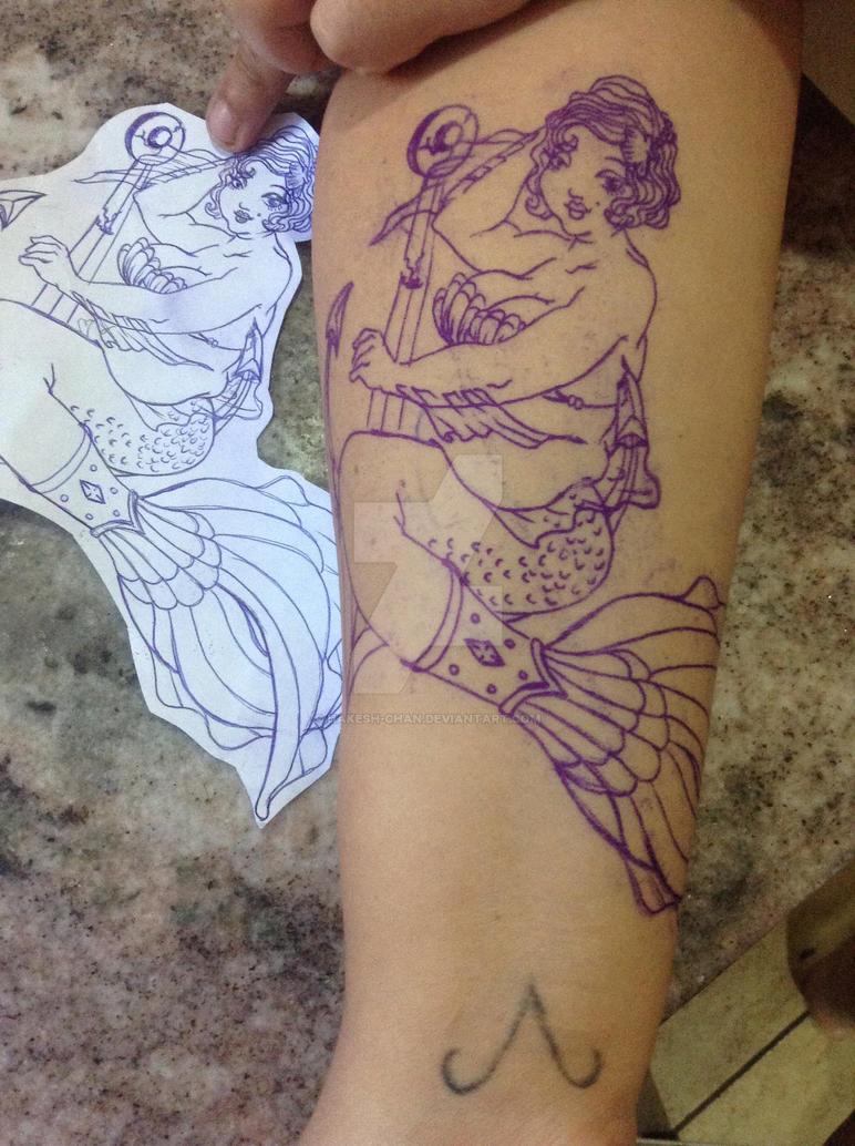 Fat marmaid  to soren tattoo design by hakesh-chan