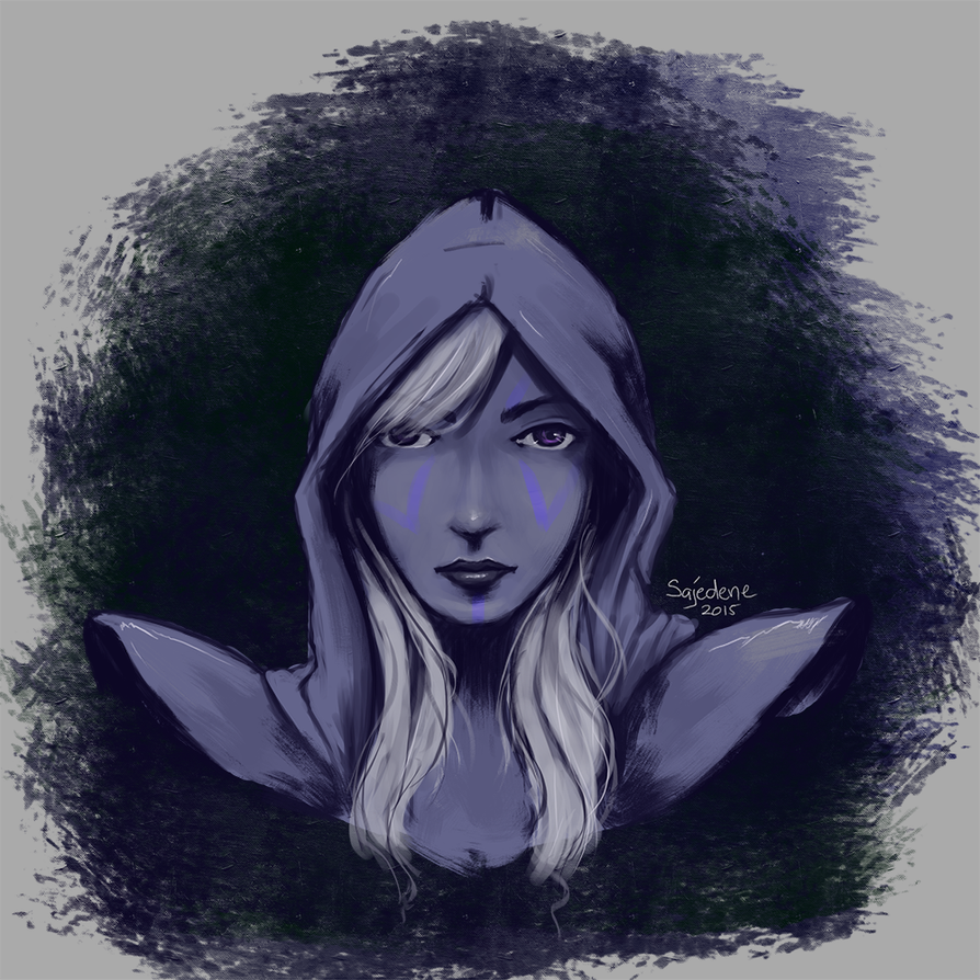 Drow Ranger Speed Paint by Sajedene